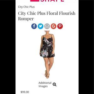 City Chic Flourish Romper